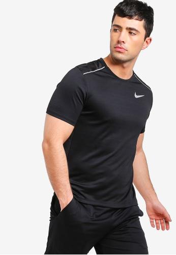 dbba394c Nike black As Men's Nike Dry Miler Short Sleeves Top 3B90CAAD3C579EGS_1