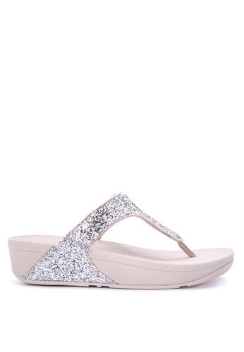 FitFlop silver Glitterball Toe-Post FI188SH0JGIQPH_1