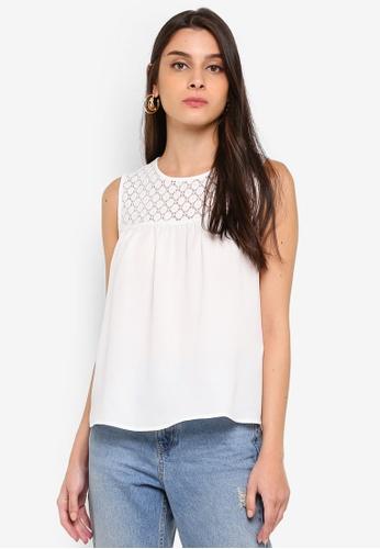 JACQUELINE DE YONG white Ileene Lace Top 32609AAB7EE407GS_1