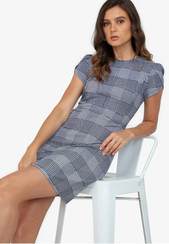 ZALORA WORK multi Tulip Sleeves Mini Dress 2639DAA436BF87GS_1