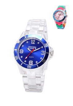 Newyork Army Women's Clear Transparent Strap Watch NYA101 -NYA101 buy 1 take 1
