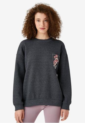 KOTON grey Floral Sweatshirt CCDFEAA9F85F19GS_1