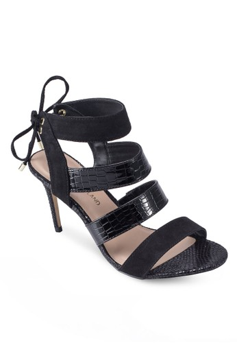 暗紋多esprit outlet 台中帶繞踝高跟鞋, 女鞋, 鞋
