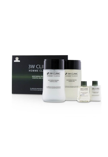 3W Clinic 3W CLINIC - 男性肌膚保養組合Homme Classic - Moisturizing Freshness Essential Skin Care Set 4pcs CAEF2BEEF51F50GS_1