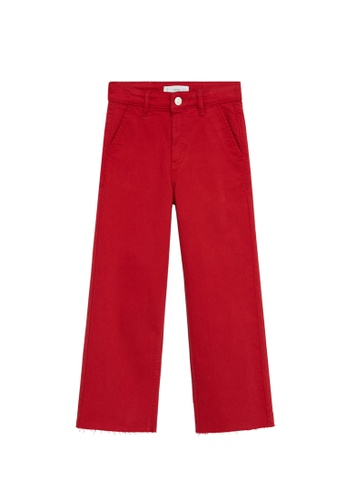MANGO KIDS red High Waist Culotte Jeans 30832KAB6C36B4GS_1
