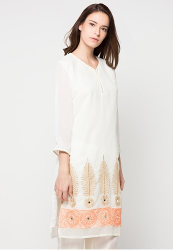 Chanira Festive Collection white and multi Rubi Festive Tunic CH354AA60BIPID_1