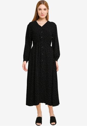 LOWRYS FARM white Printed Buttoned Dress E2FD7AA7DB8832GS_1