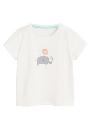 MANGO BABY white Organic Cotton Embossed Detail T-Shirt 68779KAD6FB7ACGS_1