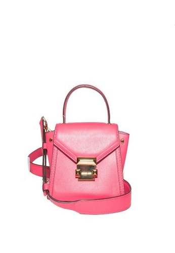 MICHAEL KORS pink Michael Kors Whitney Mini Leather Satchel - Pink 30T8GXIM1L-653 2AB8DAC68DA6CCGS_1