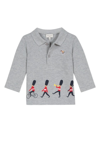 PAUL SMITH JUNIOR grey PAUL SMITH JUNIOR BABY BOYS POLO SHIRT D362CKA1F40545GS_1