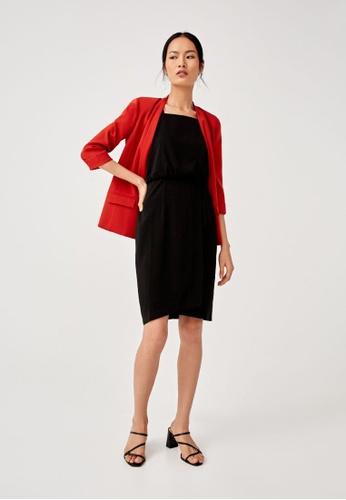Love, Bonito black Winslet Crossover Pencil Dress 504D8AACF95A0FGS_1