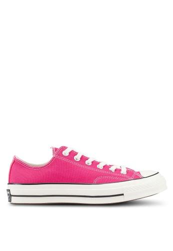 Converse 粉紅色 經典帆布綁帶運動鞋 BB08FSH88D02CFGS_1