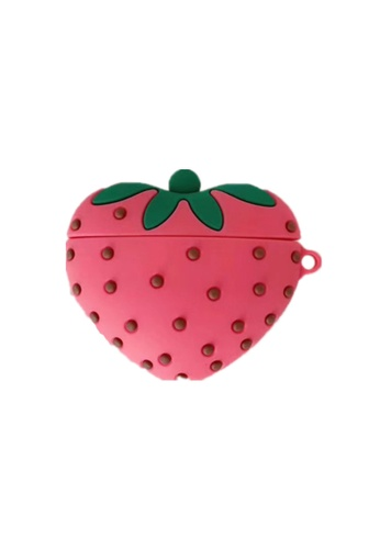 Kings Collection red Strawberry AirPods Case (KCAC2197) 921E7ACF62631AGS_1