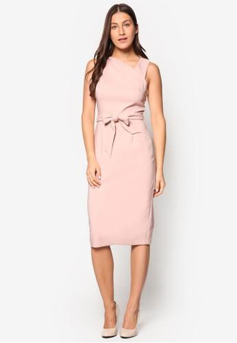 前繫帶鉛筆無袖洋裝、 服飾、 洋裝DorothyPerkins前繫帶鉛筆無袖洋裝最新折價