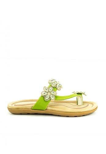 Mario D' boro Runway green CR 24328 Green Flat Sandals A919AKS852D966GS_1