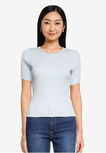 Forever New blue Audrey Crew Neck Knit Tee 6BB61AA05A00A8GS_1