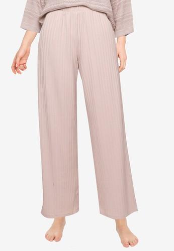 JACQUELINE DE YONG beige and grey Alette Wide Lounge Pants AA9DBAA7D9E8F1GS_1