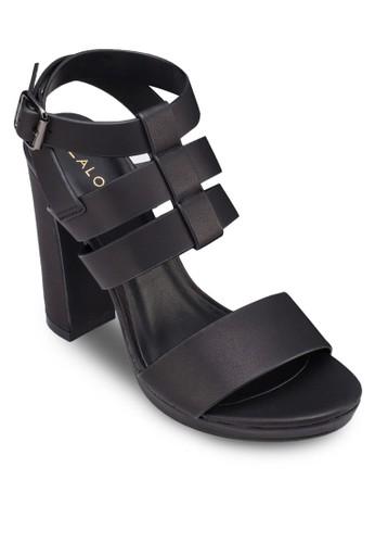 多帶zalora開箱繞踝粗高跟鞋, 女鞋, 厚底鞋