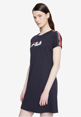 3902aa7833ae4 Buy Fila LOGO Taped Dress Online on ZALORA Singapore