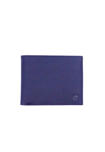 Goldlion blue Goldlion Men Leather Wallet (13 Cards Slot, Window Compartment, Center Flap) - Black with Inner Gray C004EACF580212GS_1