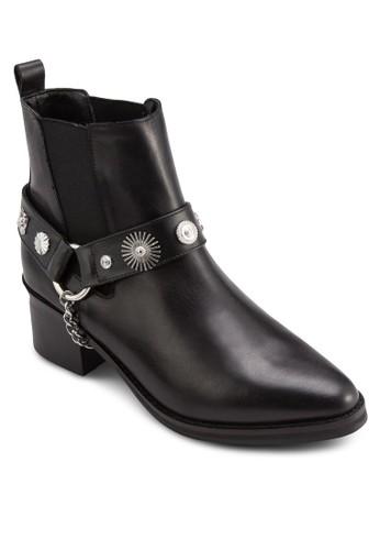 Odell 造型鉚釘麂皮高筒踝靴, 韓系時尚, esprit旗艦店梳妝