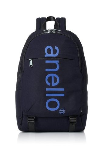 Anello blue ANERO Logo Printed Backpack-AH-B2481-NV NAVY D039AACFED8A2DGS_1