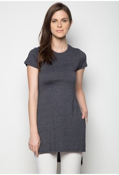 Solid Dress with Sleeves