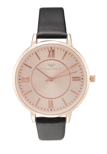 Victoria Walls Watches black Designer Watch-Elegant Leather Strap E1AE8AC53D7F17GS_1
