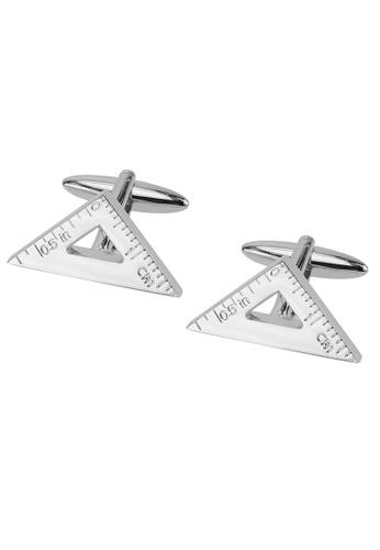 CUFF IT silver Triangle Ruler Cufflinks CU047AC2UQCPHK_1