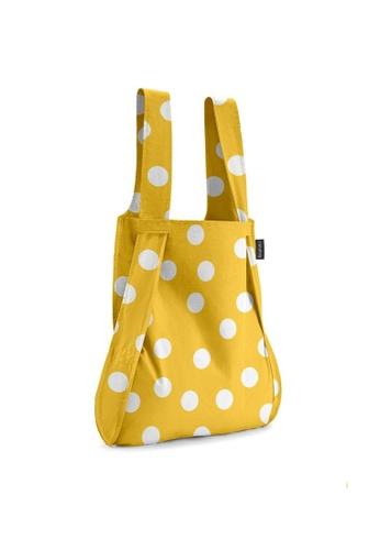 NOTABAG yellow Notabag Original Convertible Tote Backpack - Golden Dots B3A18AC4CDCC5DGS_1
