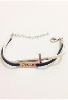 Peace Cross Suede Bracelet