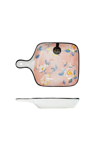 Table Matters multi Camellia - 6 inch Square Plate With Handle 13374HLA4372AEGS_1