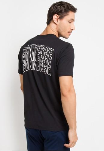 Converse black Lined Star Chevron T-Shirt C0655AAF6BD536GS_1