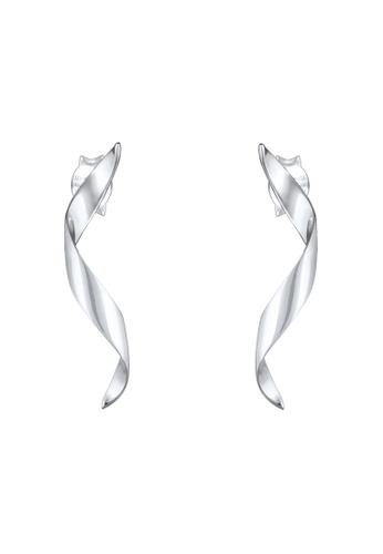 ELLI GERMANY silver Elli Germany Earrings Dangle Wave Spiral Trend Geo 925 Sterling Silver 6D0DAAC2D53ADDGS_1