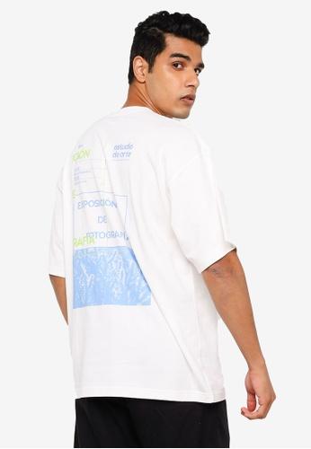 RAGEBLUE white Graphic T-shirt 93B69AA76EF390GS_1