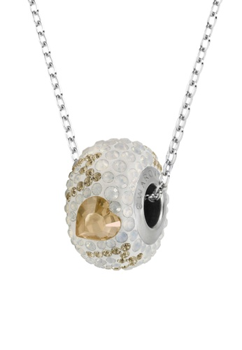 Her Jewellery white and yellow and silver BeCharmed Pave Best Mom Bead Pendant (Yellow) - Made with premium grade crystals from Austria D2674AC95A4541GS_1