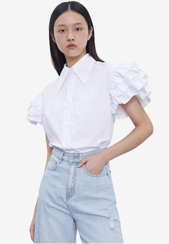 Urban Revivo white Casual Shirt 8731BAA86BCAFDGS_1