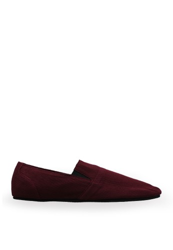 Minarno red Maroon Canvas Slip-On ND126 MI641SH46YCRID_1
