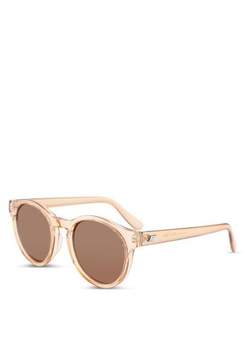 Le Specs brown Hey Macarena Sunglasses F5476GL5ACBC55GS_1