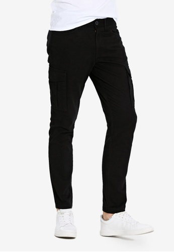 LC WAIKIKI black Slim Fit Gabardine Trousers E00F7AAEFB6157GS_1