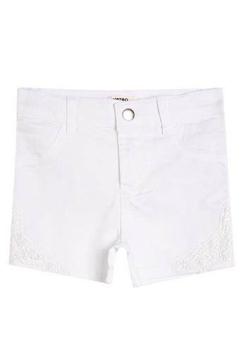 KOTON white Lace Shorts 4BB6DKAFEB18C5GS_1