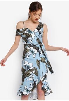 02c1c6ede7de6 Lavish Alice blue and multi One Shoulder Ruffle Wrap Dress  C56C6AAE0EF0F4GS_1
