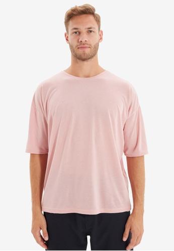 Trendyol pink Oversized Short Sleeves T-Shirt 19E08AA2BF84DAGS_1
