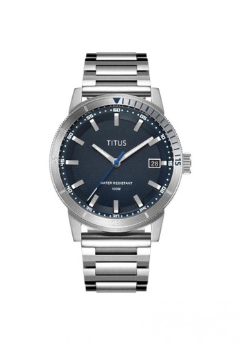 Solvil et Titus navy Nordic Tale Men's 3 Hands Date Quartz Watch In Navy Dial And Stainless Steel Bracelet B9A03ACF5E2192GS_1