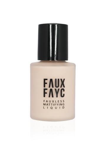 Faux Fayc beige Fauxless Mattifying Liquid Foundation - Toast FA334BE00WOHSG_1