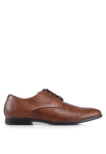 Burton Menswear London brown Tan Bryer Derby Shoes 49EF2SHEC60EE9GS_1