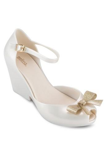 Lady Lovesprit taiwane II 蝴蝶結露趾繞踝厚底高跟涼鞋, 女鞋, 鞋