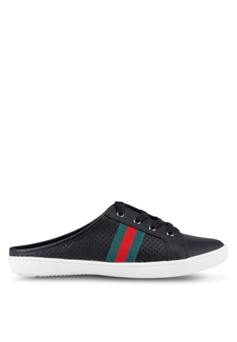 Nose black Sport Band Slip On Sneakers NO327SH14SMJMY_1