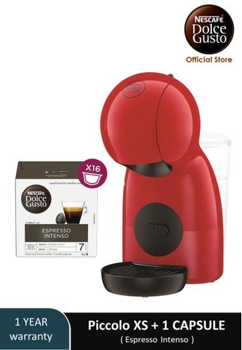 NESCAFE Dolce Gusto red PICCOLO XS Coffee Machine with 1 box of NESCAFE Dolce Gusto Espresso Intenso capsules 6F0EFES9EAD812GS_1