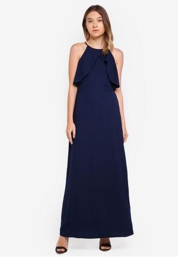 Dorothy Perkins navy Navy Floral Maxi Dress 50392AAABDDEFAGS_1